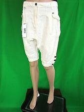 DATCH Women's New €100 Striped Cotton Harem Crop Trousers Pants sz 12 AM1