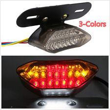 20 LED 12V Universal Motorcycle Tail Turn Signal Brake License Plate Rear Light