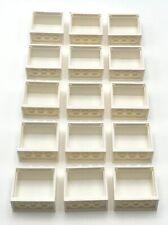 Lego 15 White Window 2 x 4 x 3 Frame Pieces