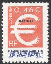 Mayotte 1999 Euro Currency Introduction/Overprint of France Definitive 1v n42776