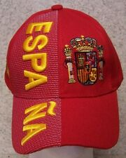 Embroidered Baseball Cap International Spain NEW 1 hat size fits all red