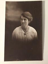 Vintage Postcard - RP Anonymous People - Woman #39