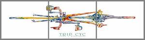 "John D Wibberley Cycle Art - Original ""Trip Cyc"" Print 30"" x 24""(each panel)"
