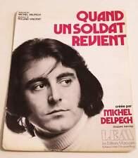 Partition vintage sheet music MICHEL DELPECH : Quand un Soldat Revient * 70's
