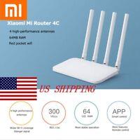 Original Xiaomi Mi 4C 4 Antenna 300M APP Control WiFi Wireless Network Router US