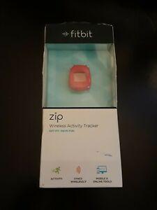 New Fitbit Zip Wireless Activity Tracker FB301M Magenta Open Box EUC Damaged Box