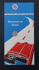 Dépliant touristique BIENVENUE EN SUISSE / SCHWEIZ circa 1930 Touring Club
