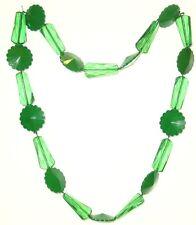 BIGIOTTERIA - Collana  c/perle di plastica verdi e trasparenti