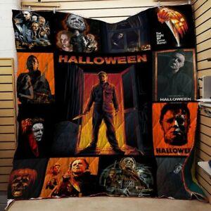 Love Michael Myers 02 Halloween Blanket Gift for fan Horror Movie Michael Myers