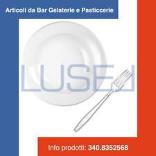PZ 100 PIATTO PLASTICA TRASPARENTE TONDO + PZ 100 FORCHETTE KRISTAL IN PLASTICA