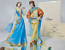 LENOX Porcelain ROMEO & JULIET FIGURINES Masquerade Ball Shakespeare Lovers COA!