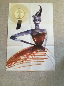 """GRACE JONES Love Is The Drug 7"""" VINYL Limited Edition Clear Vinyl With Poster"""