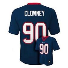 Houston Texans NFL #90 Clowney (Blue) Jersey Size Youth M New