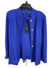 misook misses jacket blazer cardigan stretch royal blue SMALL NEW $418 #G115
