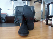New Pure Handmade Mens Black Chelsea Suede Leather Boots with Black Crepe Sole