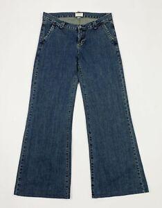 Woolrich jeans donna usato W30 tg 44 bootcut flare a zampa loose denim T5636