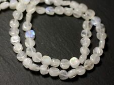 Fil 33cm 56pc env - Perles de Pierre - Pierre de Lune Arc en Ciel Palets 5-6mm -