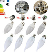E14 E27 B22 B15 3W LED 2835 SMD Bombilla Candle Flame luz Bulb Chandelier 220V