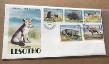 Lesotho 1982 FDC + WWF Complete Set of 5  #351-355 + Popular and Scarce FDC