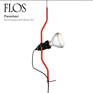FLOS PARENTESI Pendant Floor Lamp Red F5400035 Designed by Achille Castiglioni