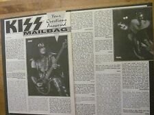 Kiss, Two Page Vintage Clipping