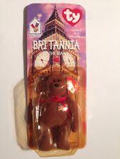BRITTANIA THE BEAR TEENIE TY BEANIE BABY NEW ON BACKBOARD MCDONALDS ENGLAND