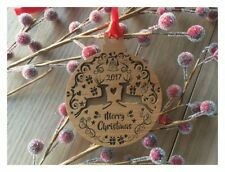 Reindeer Merry Christmas Ornament - Personalized Laser Engraved