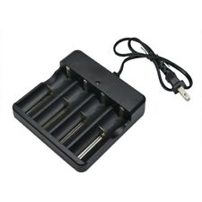 4 Slots Battery Charger  For 18650 3.7V Rechargeable Li-Ion Battery US Plug
