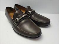 Allen Edmonds Verona Brown Leather Horsebit Loafers Shoes Mens US 7.5 D