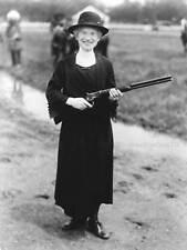 Fotografía Vintage Annie Oakley rifle Buffalo Bill EE. UU. impresión de arte poster BB10155