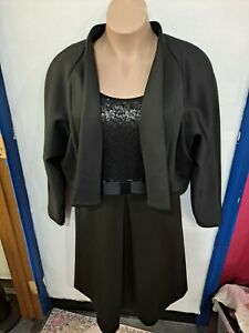 Isabel Toledo for Lane Bryant nwt dress and jacket 26 4x sequins bow cocktail