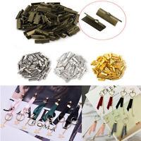 6-30MM Ribbon Clip Clamp Cord Crimp End Cap Tip Necklace Bracelet Connector