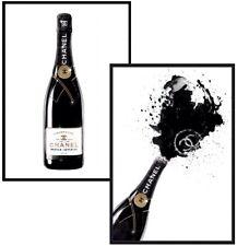 Champagne Bottle Art Fashion Art Poster Prints Wall Art Kitchen Art A4 Art Print