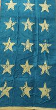 TEAL SAND GOLD STARS JUMBO LARGE BEACH TOWEL 100% EGYPTIAN COTTON 90cm x 170cm
