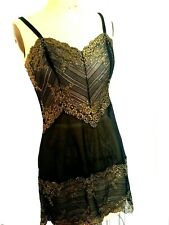 WACOAL NWOT bridal black and gold short nightgown/Lingerie Large