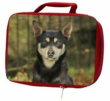 More details for australian kelpie dog insulated red school lunch box/picnic bag, ad-ak1lbr