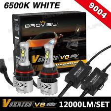 BroView V8 12000LM HB1 9004 Headlamp Dual Beam Conversion Kit LED Projector Bulb