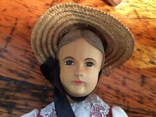 Hand Carved Wooden Jointed Doll
