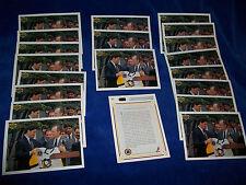 Lot of 20 - 1991-92 Upper Deck #47 Mario Lemieux w/George Bush : Penguins