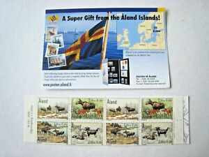 ALAND (SWEDEN) BOOKLET OF MOOSE STAMPS.  LOT#502