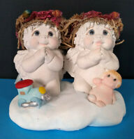 Vintage Dreamsicles Prayer Time Figurine Two Angels on Knees to Pray 1996