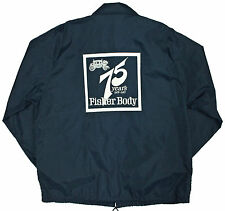 Vtg 1983 FISHER BODY 30th Anniversary Jacket XL Blue Nylon GM OLDSMOBILE CHEVY