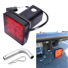 """2"""" Trailer Hitch Tow Bar Tip Cover 12LED Brake Tail Light Stop Lamp for Truck Rv"""