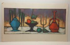 Tugomir huberger Stillleben mit Früchten Vintage Lithographie Kunstdruck