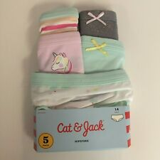 Cat & Jack Girls' - 5 Pack - Unicorn Themed Hipsters Panties - Size 14