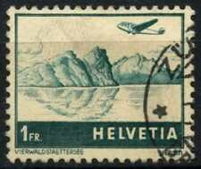 Switzerland 1941-48 SG#420, 1f Blue-Green/Buff Air Used #D76635