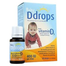 Baby Ddrops Liquid Vitamin D3 400 IU Dietary Supplement 90 Drops 2.5 ml d drop