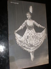 Old postcard Polish ballet dancer Tossina Warsaw Poland c1920s