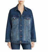 Eileen Fisher Organic Cotton Stretch Denim Jacket - Aged Indigo Size L ~ NWT