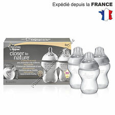 Tommee Tippee Biberon Débit Lent 260ml 0m+ Lot de 3
